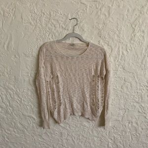 lucca couture Ripped Sweater Size S
